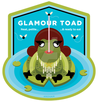 Drag Badge - Glamour Toad by dezignjk