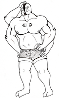 Four Arms in short shorts by SteveDraws