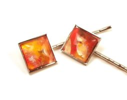 Autumn Melted Crayon Bobby Pins by annjepsen