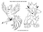FF Chocobo and Moomba by iq40