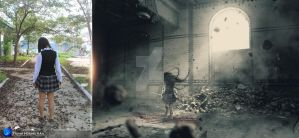 Ghost III Before and After by Hoangvanvan
