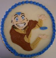 Aang Cake by GoldDust12