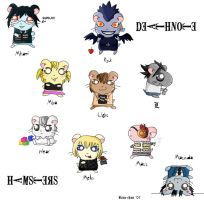 Death Note Hamsters by Risu-chan14