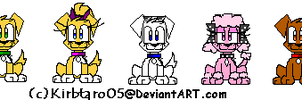 Ardie and Friends Sprites by Kirbtaro05