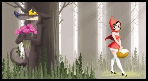 Red Riding Hood by poubelle-de-dav