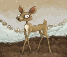 Deer and Disembodied Heads by teaspoons