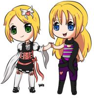 Chibi Sisters by gigithestar07