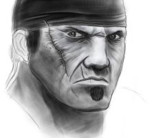 Marcus Fenix in progress by sanyaca