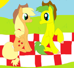 Applejack and Jame's Picnic by ApplejackCowgirl