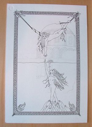 Orpheus and Eurydice WIP - Pencil/Inkwork