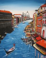 A Canal in Venice by BondArt