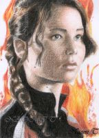 GIRL ON FIRE, KATNISS by Naomi-Torrecampo