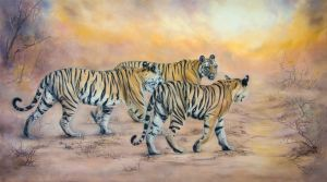 Tigress with cubs by IrenaDem