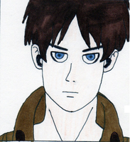 Eren Jaeger Close Up by tabby25