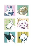 Doggy Stickers by melevator
