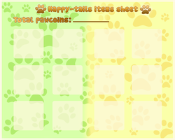 Happy-tails items sheet by Tea-why