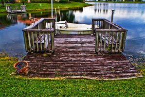 Decrepit Dock by Dustinpg