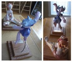 Luna and Solaris in sculpey One of Two by Vanoushka