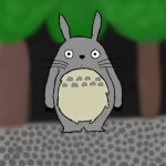 Totoro drawing by ExtremeCookieMonster
