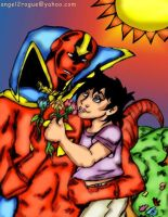 Red Tornado n' Traya by angel-gidget