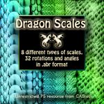 Dragon Scales brush set by CAStock