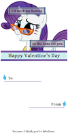 Happy Valentine's Day from Rarity by twinkiepinkie