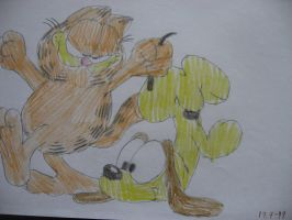 Garfield and Odie by Twilightberry