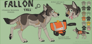 Fallon Reference for SpoonLake by WolvenBird