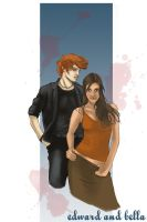 Edward and Bella by kahahuna