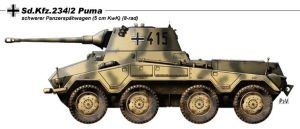 Sd.Kfz.234.2 Puma by nicksikh