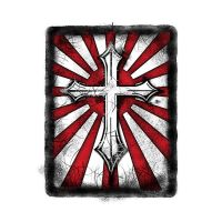 Red White Cross Grunge by ca-booth