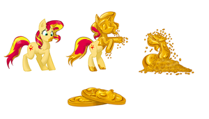 All that Sunset Shimmers is Gold by MistressCelestia