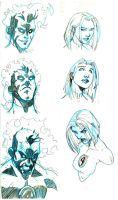 Sue and Johnny Storm Studies by RAHeight2002-2012