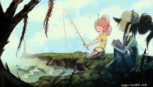 Marceline and PB fishing by uuber