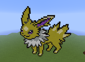 Minecraft- Jolteon by Puppylover5