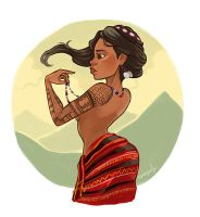 Kalinga woman by squeegool