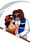 Skull Couple by dviouslecunning