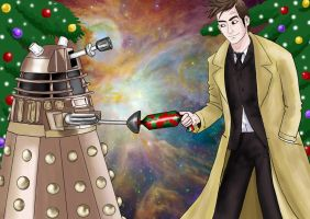 dr who at xmas by staticgirl