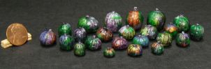 Dark Opalescent Miniature Halloween Pumpkins by Kyle-Lefort