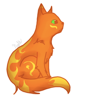 I drew a cat :3 by Nightstripes0987