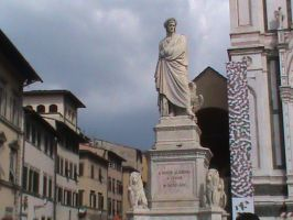 Statue Of Dante Alighieri by Mysteriouspizza