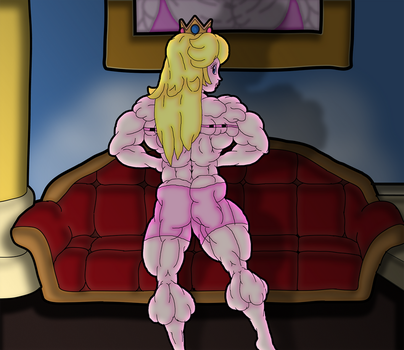 Princess Peach - Bedtime Flex by A-Sea-Lion