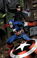 Cap And Bucky by Sorathepanda