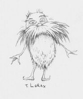 Sketch - The Lorax by CalamityBane