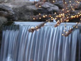 Lighted Waterfall by desertlilly