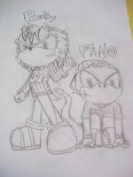 Sonic Bucky and Sonic Fang by SkittsTheEchidna