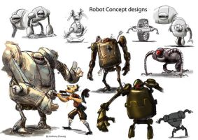 Robot Concept Design by anthonysarts