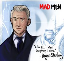 MAD MEN- Roger Sterling by Time-Giver
