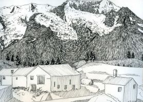 Pyrenees - Mountain village by pollywriggle