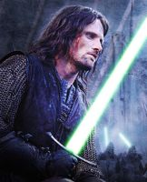 Jedi master Aragorn by GronHatchat